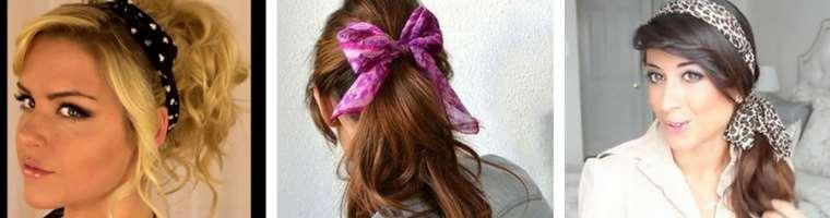 coda capelli in stile glam