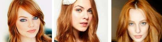 capelli ramati chiari makeup