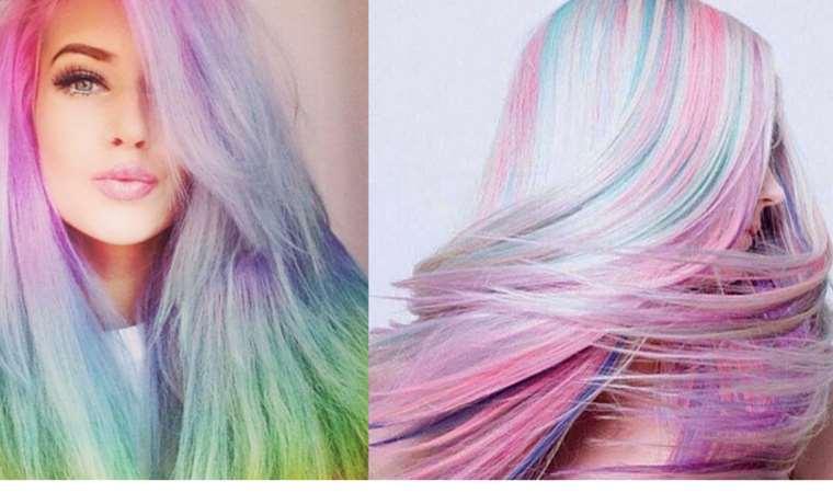 capelli colorati arcobaleno