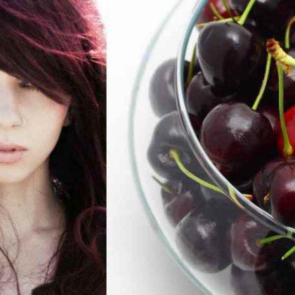 Cherry Brombrè, i capelli rosso ciliegia per le more