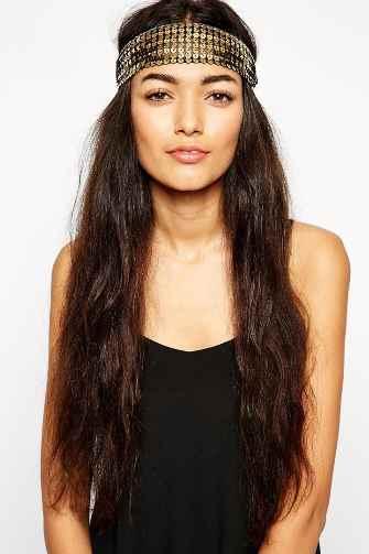 capelli lunghi con fascia di paillettes