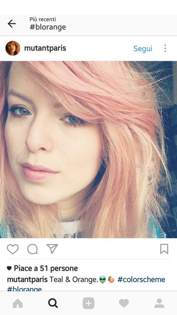 capelli colorati biondi e rosa blorange