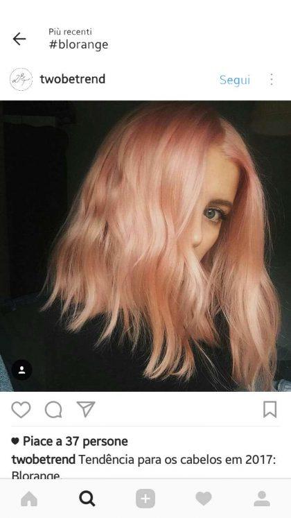 capelli colorati rosa biondo blorange