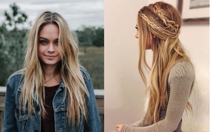 capelli biondi lunghi stile hippie