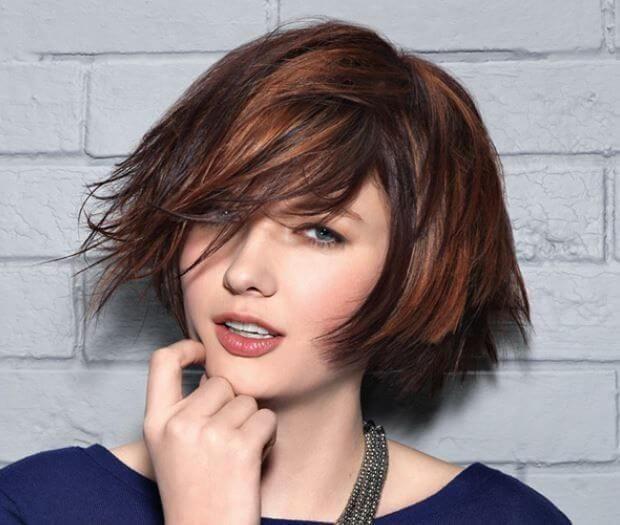 degradè capelli corti rossi