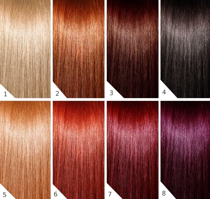 palette colore capelli autunnale