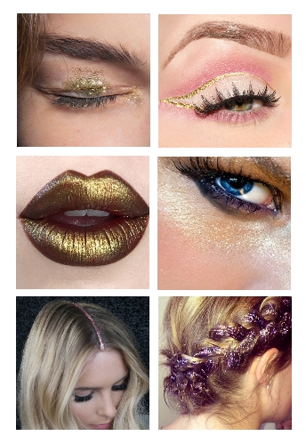 make up natalizio glitter
