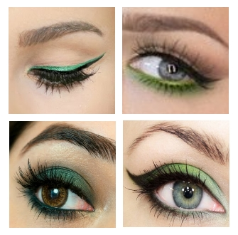 make up natalizio occhi verde