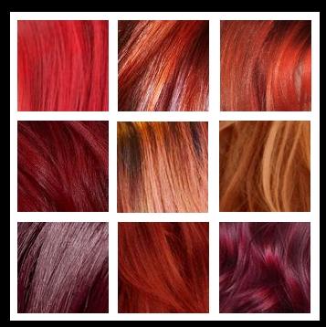 palette capelli rossi