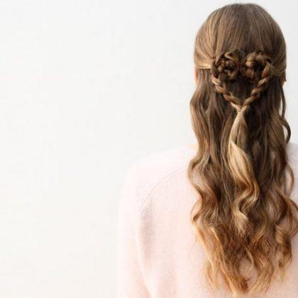 Tre acconciature capelli a tema San Valentino