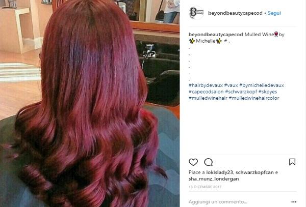 colore capelli rosso vino
