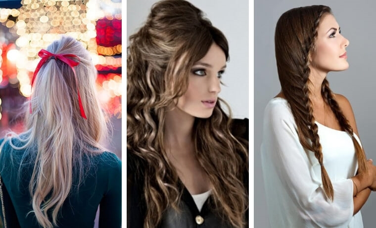Acconciature capelli lunghi Natale